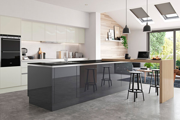 Ella High Gloss Handleless Kitchen London