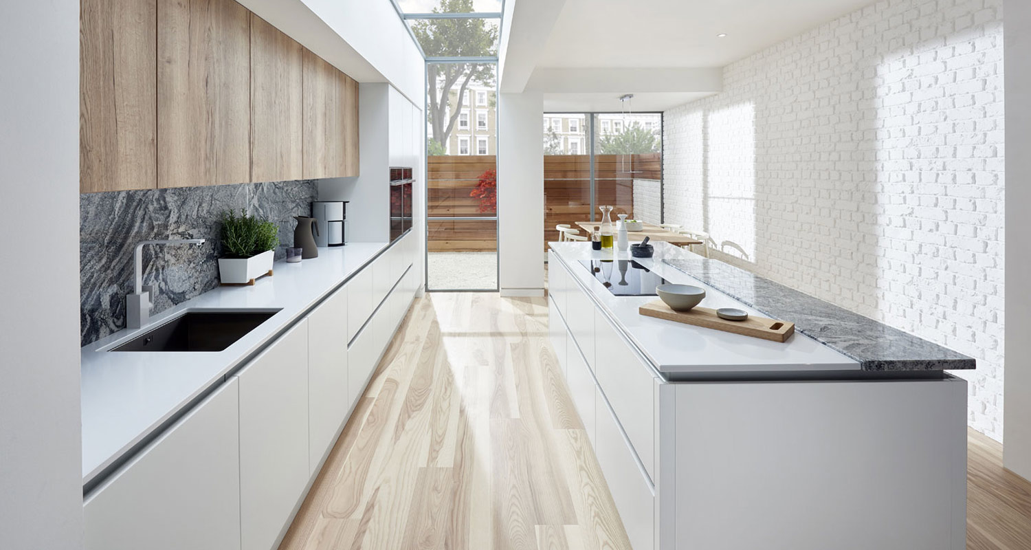 Eva High Gloss True Handleless Kitchen Range