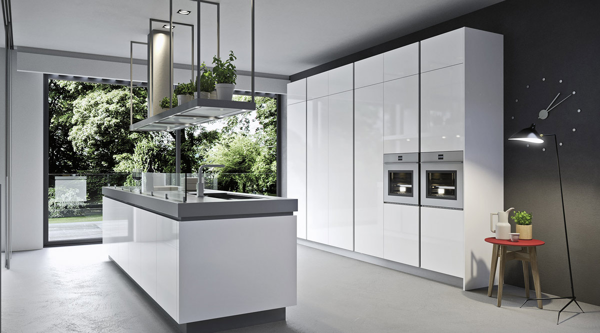 White High Gloss Acrylic Kitchen