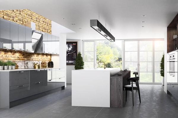 Julia High Gloss Slab Kitchens London.