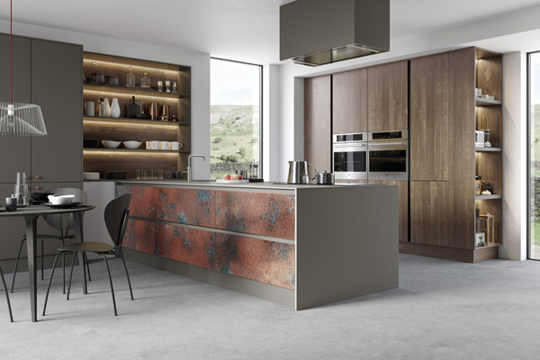 Oxidized Metal Kitchens London.