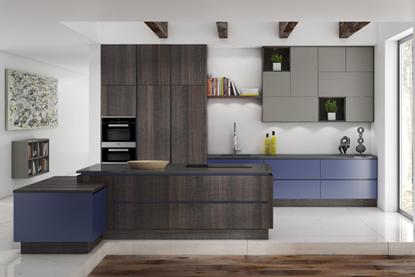 Premium Wood Veneer Kitchens London.