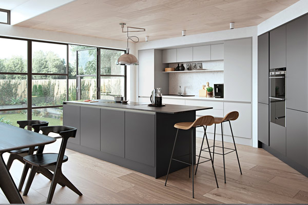 Una Matt Lacquered Kitchen London.