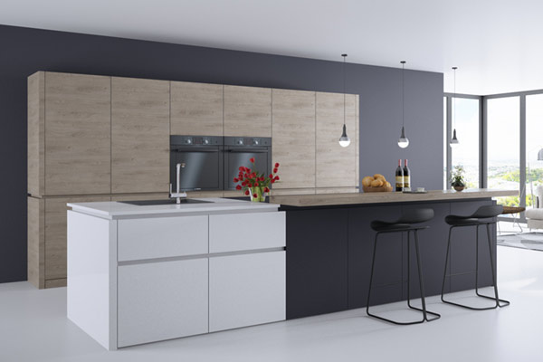 Wood Effect MFC Egger Kitchens in London