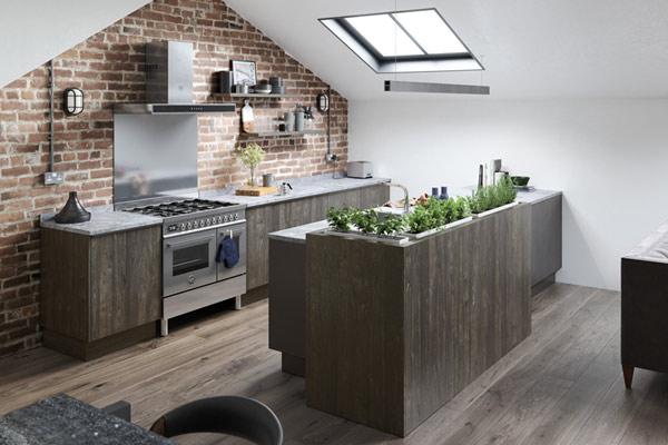Wood Veneer Kitchens London