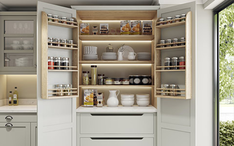 Traditional Classic Kitchen Details - Pantry Unit
